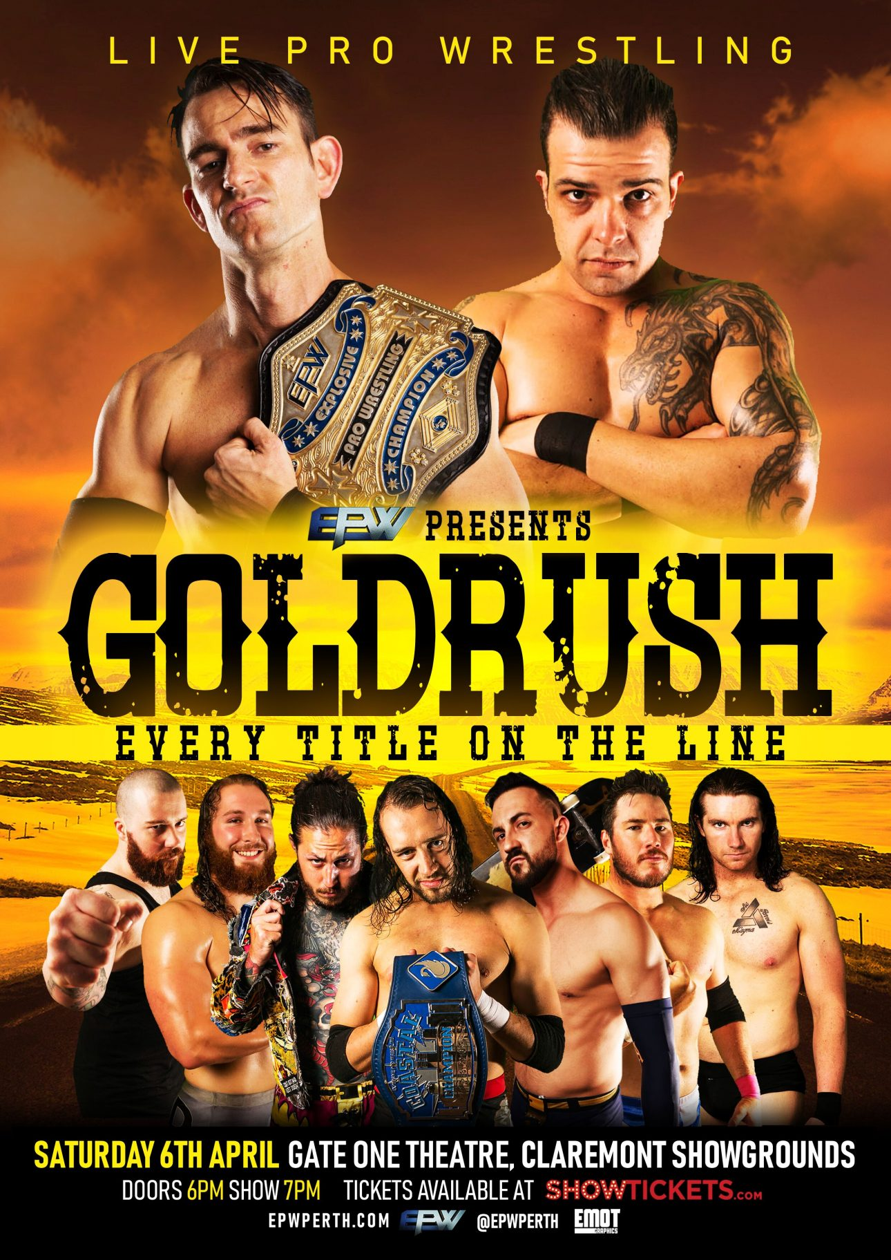 Announced shows for Goldrush 2019